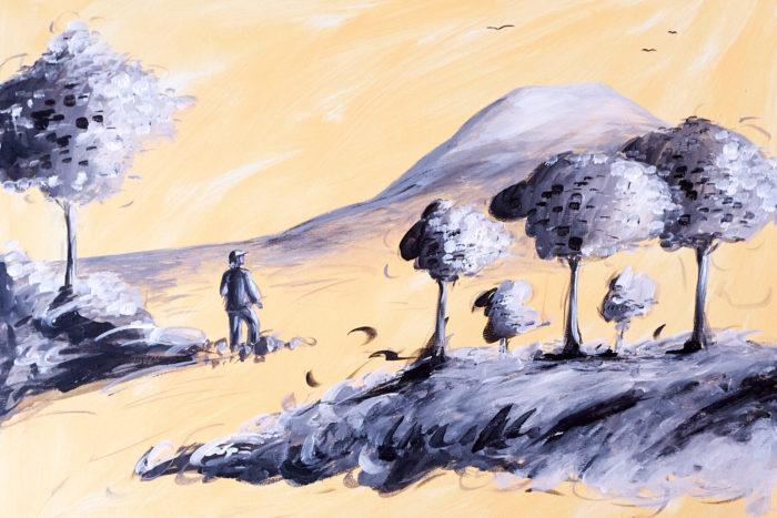 Tableau artistique par Amélie H., créatrice en Alsace-Lorraine