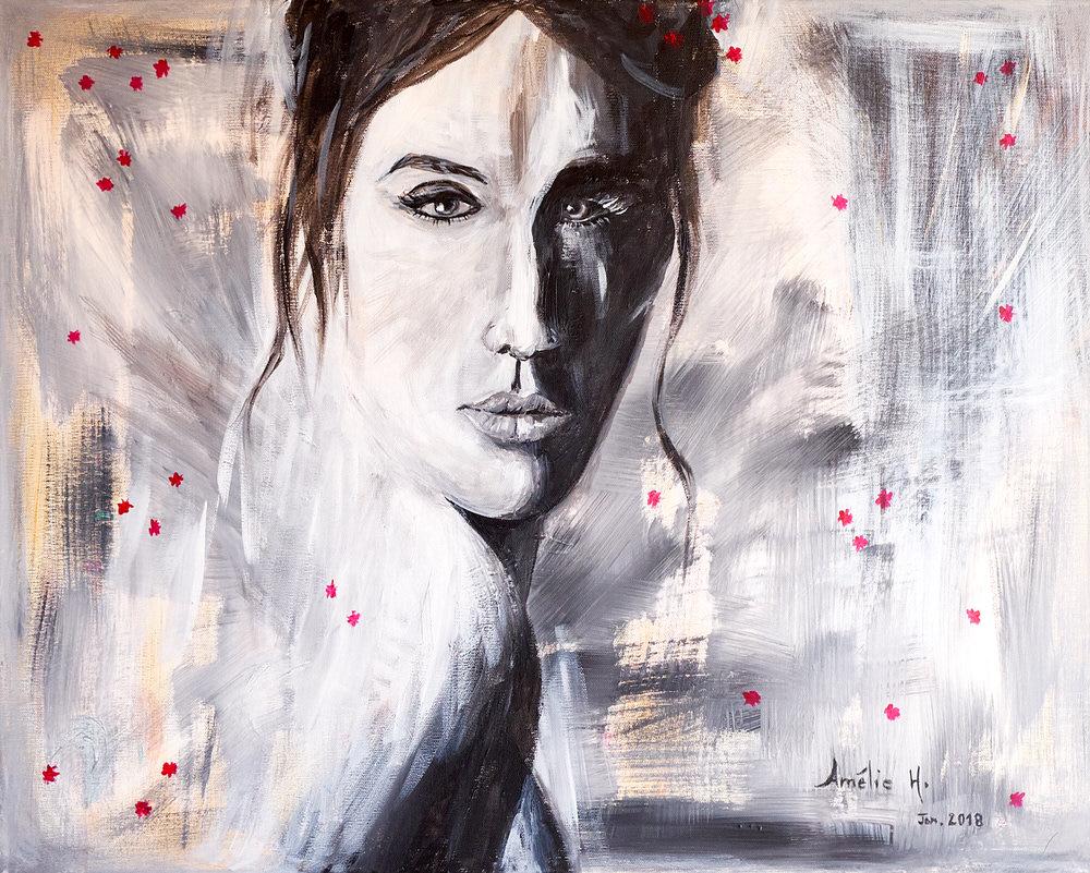 La femme au regard, portrait artistique par Amélie H.