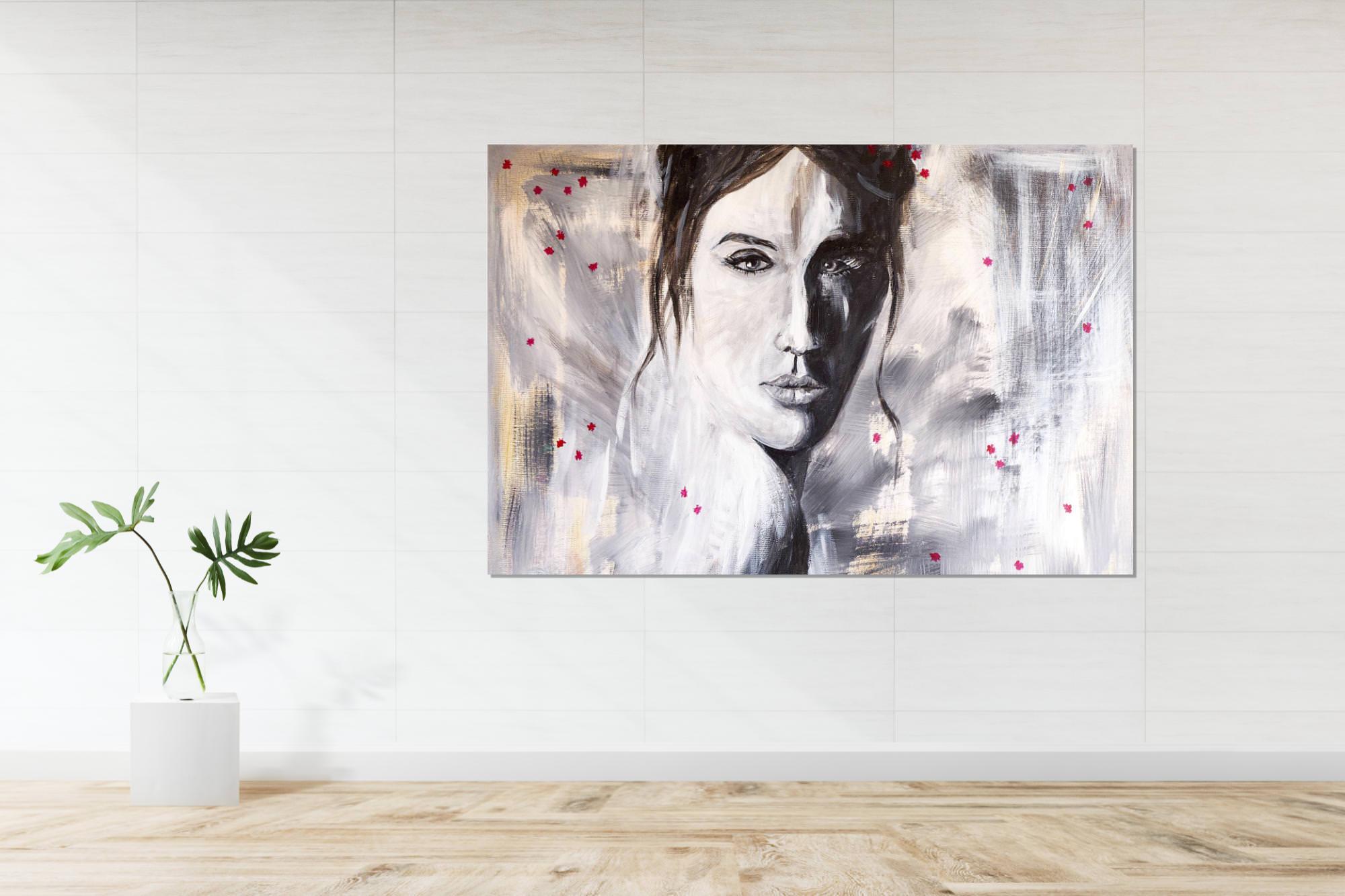 Peinture sur toile visage